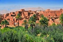 Alte Berberarchitektur nahe der Stadt von Tinghir, Marokko Lizenzfreies Stockfoto