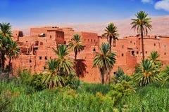 Alte Berberarchitektur nahe der Stadt von Tinghir, Marokko Stockbilder