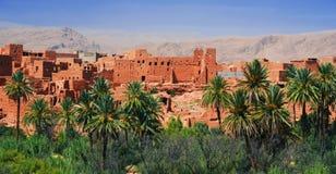 Alte Berberarchitektur nahe der Stadt von Tinghir, Marokko Stockbild
