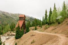 Alte Bergbauantriebswelle Stockbild