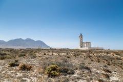 Alte Bergbaustadt von Salinen Rodalquilar, AlmerÃa, Spanien Lizenzfreie Stockfotos