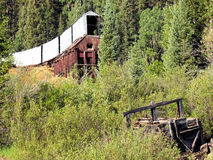 Alte Bergbauwelle herein verlassen in Colorado Lizenzfreies Stockbild
