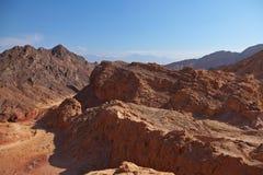 Alte Berge der Steinwüste. Stockfoto