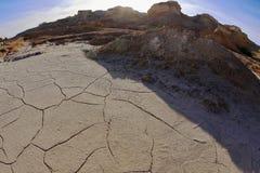 Alte Berge in der Wüste von Israel Lizenzfreies Stockfoto
