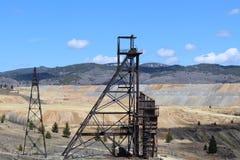 Alte Bergwerke im Butte Lizenzfreies Stockbild