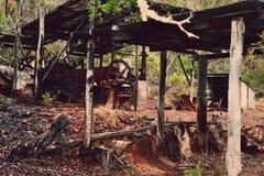 Alte Bergwerksausrüstung Stockfotografie
