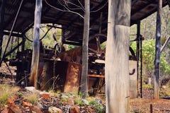 Alte Bergwerksausrüstung Lizenzfreies Stockfoto