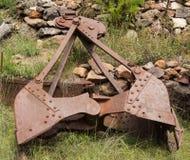 Alte Bergwerksausrüstung an der mogollon Geisterstadt Stockbild