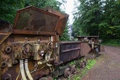 Alte Bergwerksausrüstung für eine Goldmine Stockfotos