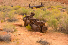 Alte Bergwerksausrüstung an Schutze ` s Fähre, Arizona Lizenzfreie Stockfotografie