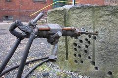 Alte Bergwerksmaschine Lizenzfreie Stockfotos