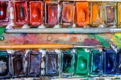 Alte Berufsaquarellfarben Lizenzfreie Stockbilder