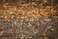 Alte Beschaffenheit der Schmutzbacksteinmauer-hohen Qualität Lizenzfreie Stockbilder
