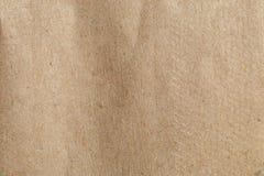 Alte Beschaffenheit des braunen Papiers für Gebrauch als Hintergrund oder freien Raum Stockbilder