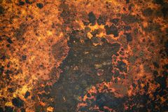 Alte Beschaffenheit des Metalleisen-Rosts mit buntem Lizenzfreies Stockfoto
