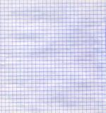 Alte Beschaffenheit des quadrierten Papiers Stockbild