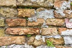 Alte Beschaffenheit einer alten Backsteinmauer Lizenzfreie Stockbilder