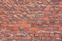 Alte Beschaffenheit einer Backsteinmauer und des Hintergrundes Lizenzfreies Stockfoto