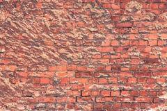 Alte Beschaffenheit einer Backsteinmauer und des Hintergrundes Stockbilder