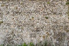 Alte Beschaffenheit eines Steinbacksteinmaueraltertums Stockfotos