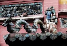 Alte Beschaffenheit mit chinesischer Art Lizenzfreies Stockbild