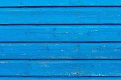 Alte Beschaffenheitshintergrund-Blaufarbe des hölzernen Brettes Lizenzfreies Stockbild