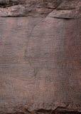 Alte Beschreibung bei Polonnaruwa Stockbilder