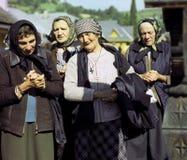Alte betende Frauen Lizenzfreie Stockfotografie