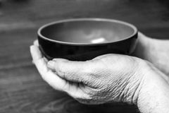Alte betende Hände Lizenzfreies Stockbild