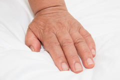 Alte betende Hände Lizenzfreies Stockfoto