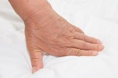 Alte betende Hände Stockfotografie