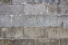 Alte Betonblockwand Stockfoto