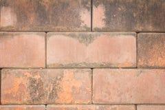 Alte Betonblockwand Lizenzfreie Stockbilder