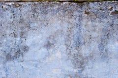 Alte Betonmauer der blauen Beschaffenheit des Schmutzes Lizenzfreie Stockfotos