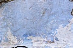 Alte Betonmauer der blauen Beschaffenheit des Schmutzes Stockfotografie