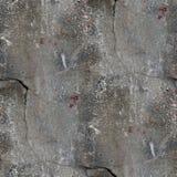 Alte Betonmauer des nahtlosen Hintergrundes mit Sprüngen Lizenzfreie Stockfotos