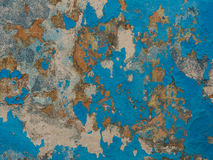 Alte Betonmauer mit alter Farbe Stockfoto