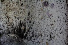 Alte Betonmauer mit Flecken und Schmutz, Beschaffenheitshintergrund Lizenzfreies Stockbild