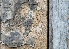 Alte Betonmauer mit hölzerner Wand Lizenzfreie Stockbilder