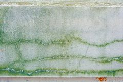 Alte Betonmauer mit langen Sprüngen und Moos Lizenzfreie Stockfotografie