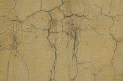 Alte Betonmauer mit Sprüngen Lizenzfreie Stockbilder