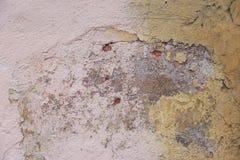 Alte Betonmauer mit Sprüngen Lizenzfreie Stockfotografie