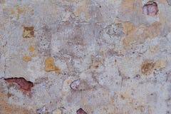 Alte Betonmauer mit Sprüngen Lizenzfreies Stockbild