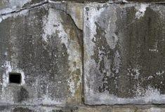 Alte Betonmauer mit Sprüngen Kann als Postkarte verwendet werden Lizenzfreies Stockbild