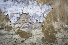 Alte Betonmauer mit Sprüngen Kann als Postkarte verwendet werden Stockfoto