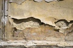 Alte Betonmauer mit Sprüngen Kann als Postkarte verwendet werden Stockbilder