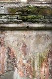 Alte Betonmauer mit Sprüngen Kann als Postkarte verwendet werden Lizenzfreie Stockbilder