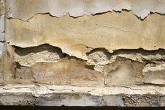 Alte Betonmauer mit Sprüngen Kann als Postkarte verwendet werden Lizenzfreie Stockfotografie