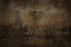 Alte Betonmauer und Boden schmutzig Lizenzfreie Stockfotos