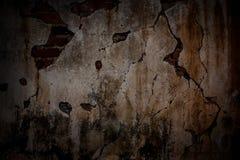 Alte Betonmauersprünge Stockfotos
